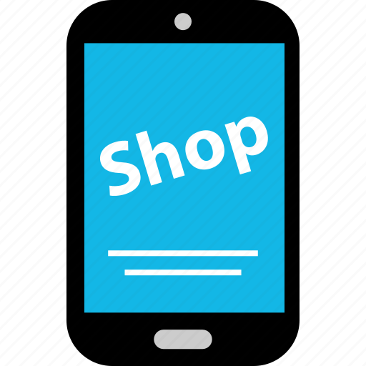 ecommerce, mobile, online, phone, shop, shopping icon