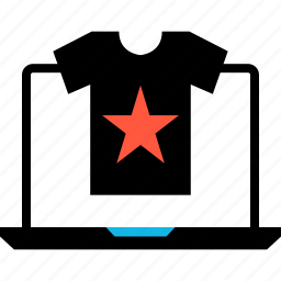 ecommerce, online, shop, shopping, star, tag, tee icon