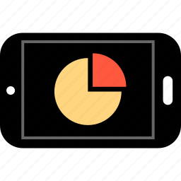 analytics, cell, chart, data, graph, phone, report icon