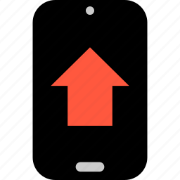 arrow, mobile, phone, point, pointer, up icon