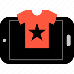 cell, ecommerce, phone, shop, shopping, star, tee icon