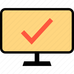 check, checkout, mark, safe, secured icon