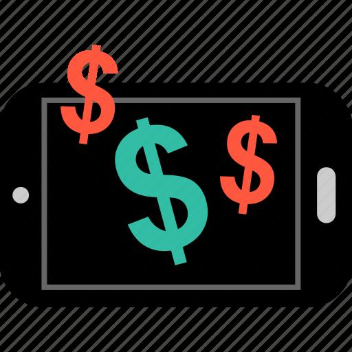 dollar, ecommerce, shop, shopping, signs, three icon