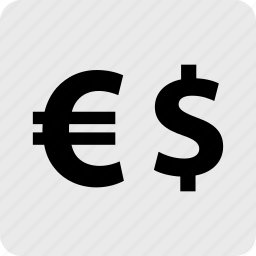 dollar, euro, funds, pay, sign icon