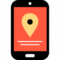direction, gps, location, mobile, phone, pin icon