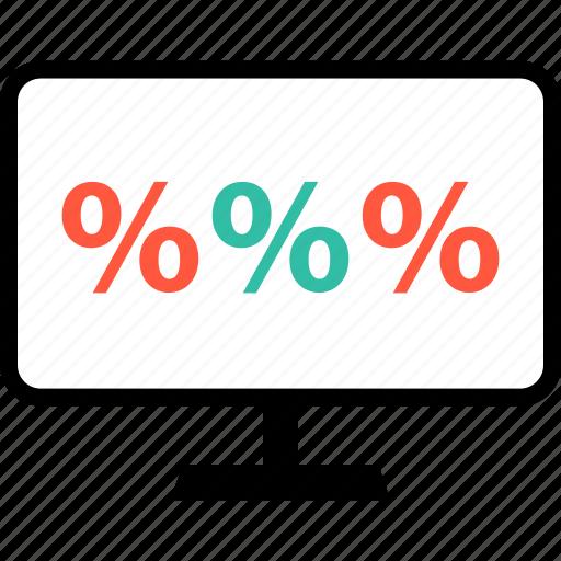 data, interest, monitor, rate, revenue, save icon