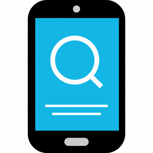 device, find, look, mobile, phone, search, zoomin icon