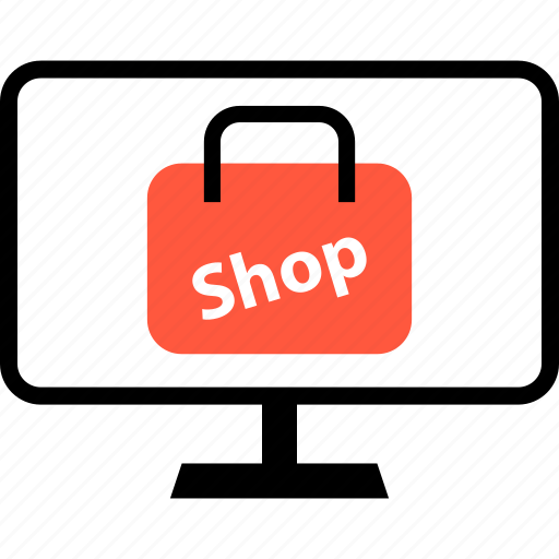 bag, mac, monitor, online, pc, shop icon