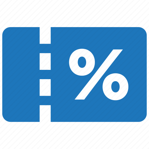 cash, coupon, discount, percentage, price, sale, tag icon