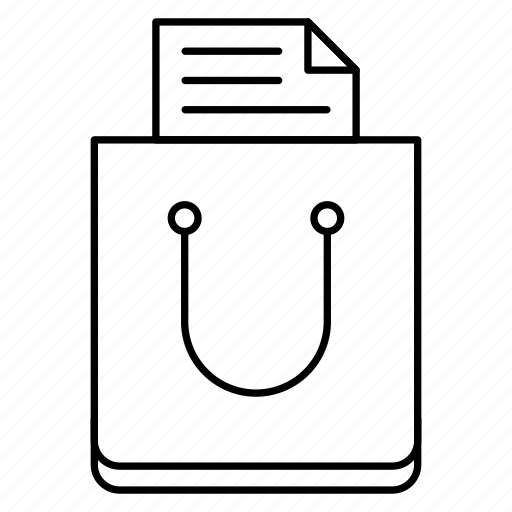 bag, document, shopping icon