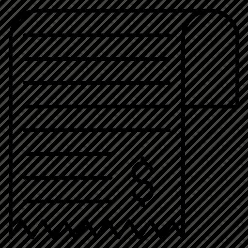 Bill, invoice, receipt icon - Download on Iconfinder