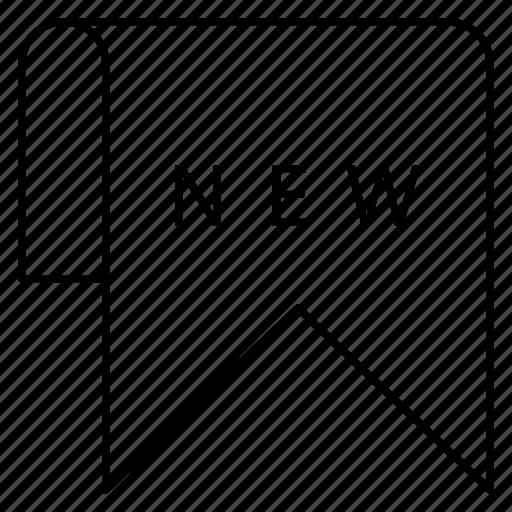 bookmark, label, ribbon icon
