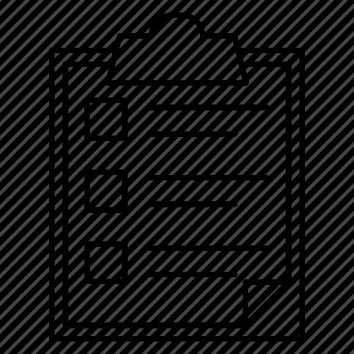 checkbox, clipboard, file icon