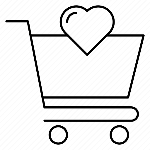 cart, favorite, like icon