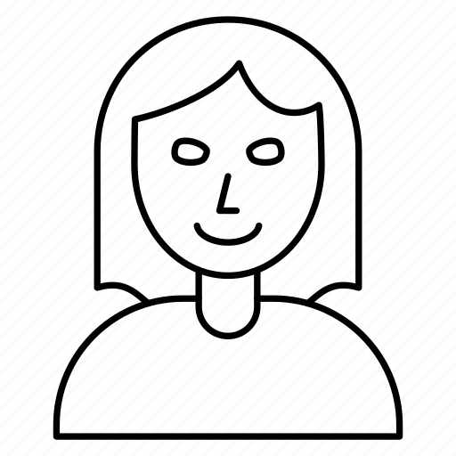 female, girl, staff icon