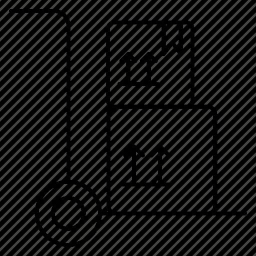 carton, dolly, order icon