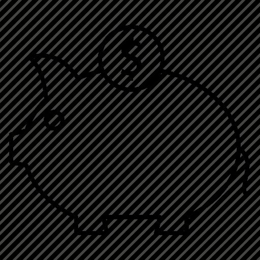 Bank, dollar, piggy icon - Download on Iconfinder