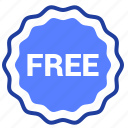 free, gift, label, tag icon