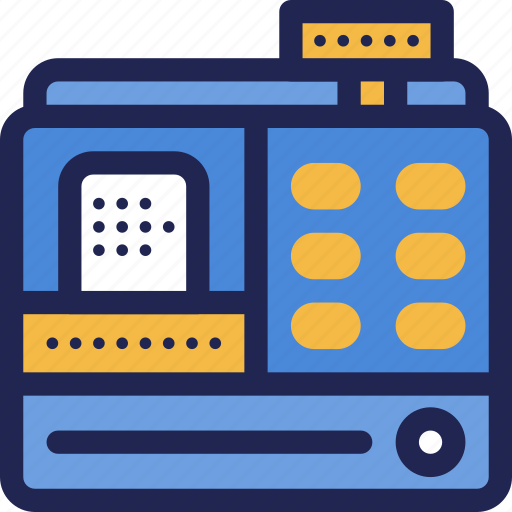 cash, currency, finance, machine, money, payment, register icon
