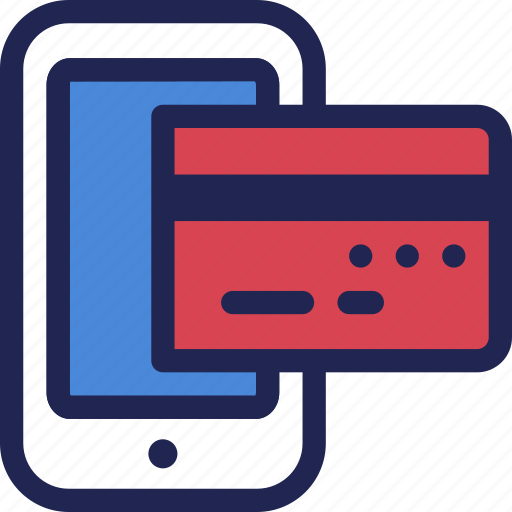 card, credit, finance, internet, mobile, online, payment icon