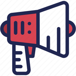 bullhorn, business, loud, marketing, megaphone, speaker icon