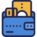 card, cash, credit, finance, money, wallet icon