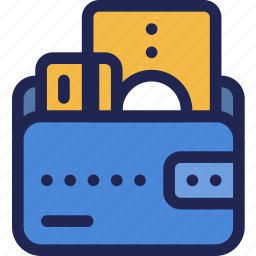 card, cash, credit, finance, money, wallet icon