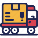 delivery, express, fast, package, service, shipping, truck icon