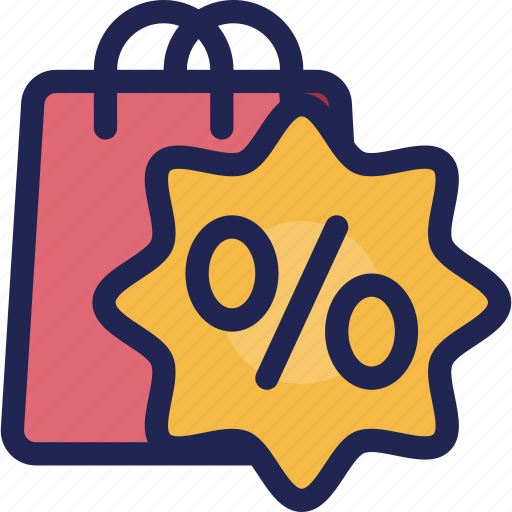 bag, discount, label, sale, shopping, tag icon