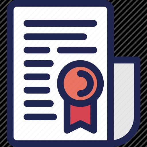 Certificate, Guarantee, Paper, Satisfaction, Warranty Icon