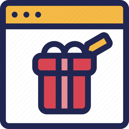 box, gift, internet, online, present, shopping, store icon