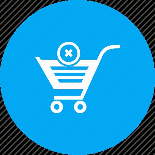 cancel, cart, order, shopping, trolley icon