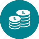 coins, dollar, money, penny icon