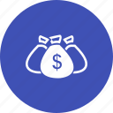 bags, currency, dollar, gold, money icon