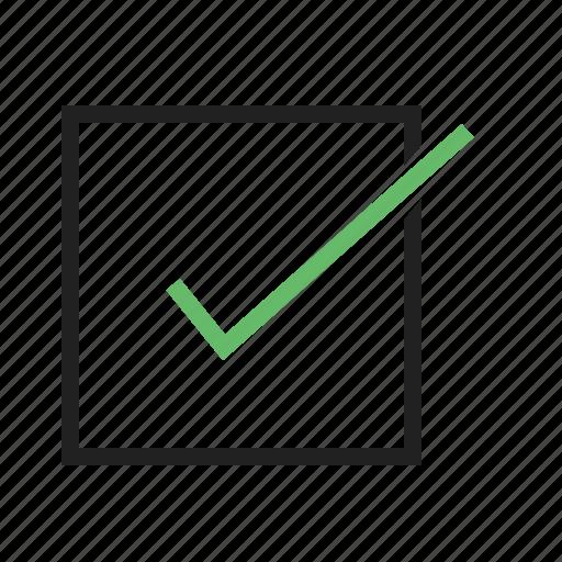 checklist, confirm, document, order, tick mark icon