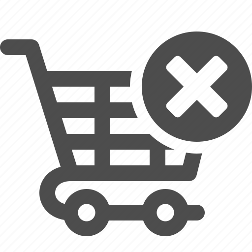 Shopping, cart, cancel, shopping cart icon