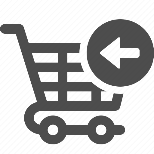 cart, return, shopping, shopping cart icon