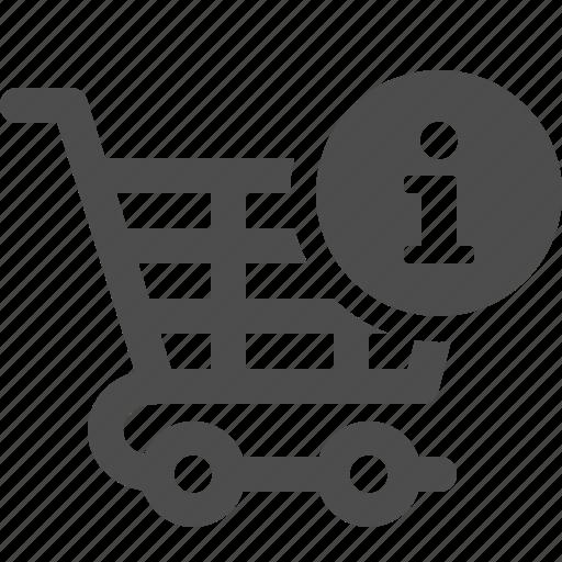 cart, info, info button, shopping, shopping cart icon