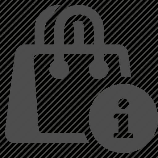 bag, info, info button, shopping, shopping bag icon