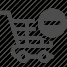 cancel, cart, minus, shopping, shopping cart icon