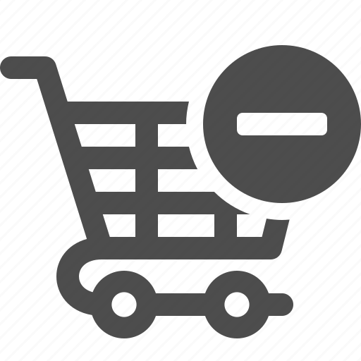 cancel, cart, minus, shopping, shopping cart icon