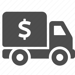 delivery, money, price, transportation, truck icon
