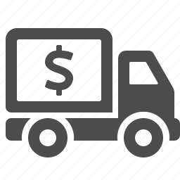 delivery, dollar, price, transportation, truck, vehicle icon