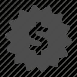 buy, dollar, label, money, price, shopping, sticker icon