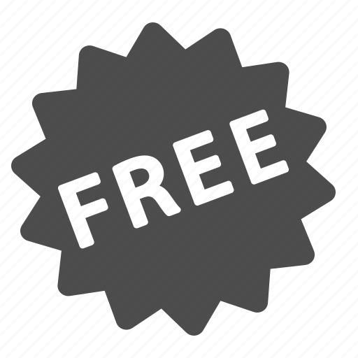free, label, price, sticker icon