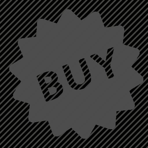 buy, label, shopping, sticker icon