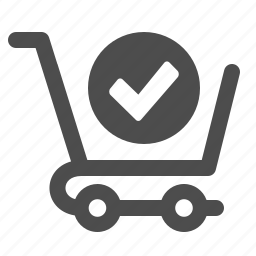 cart, check sign, ok, shopping, verified icon