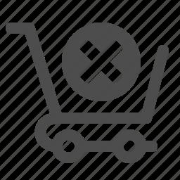 button, cancel, cart, shopping, x icon