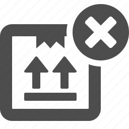 box, cancel, close, crate, delivery, logistics, package icon