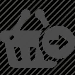 basket, button, send, shopping icon